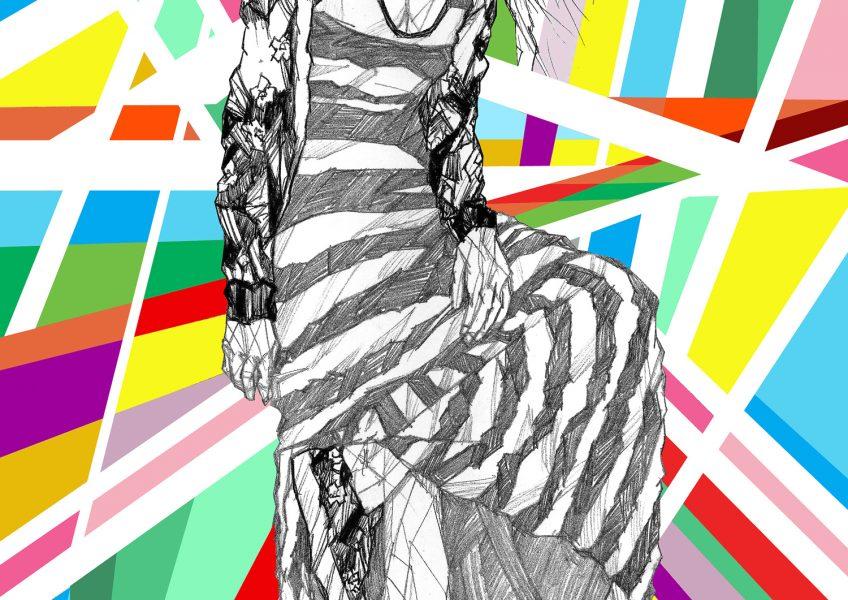 Asare Adjei_Fashionista_BeUnique_W_001_InkandDigitalArtonPaper_2015_Illustration