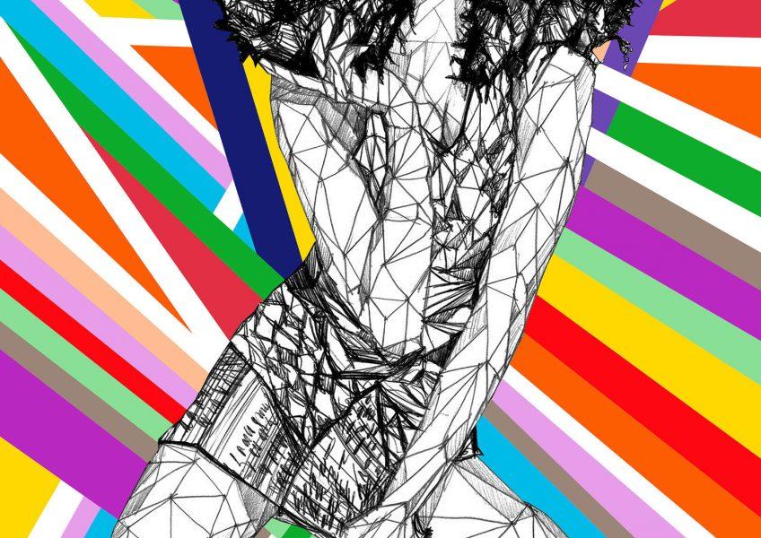 Asare Adjei_Fashionista_TrustSelf_W_003_InkandDigitalArtonPaper_2015_Illustration