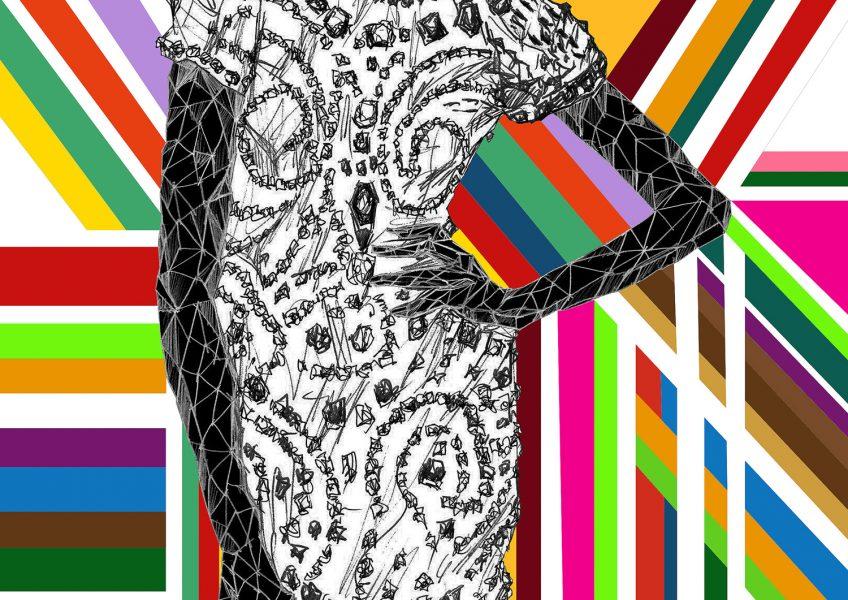 Asare Adjei_Fashionista_independentWoman_W_005_InkandDigitalArtonPaper_2015_Illustration