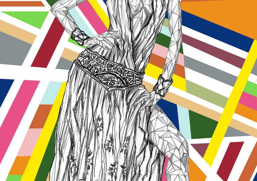 Asare Adjei_Fashionista_GoWithTheFlow_W_006_InkandDigitalArtonPaper_2015_Illustration