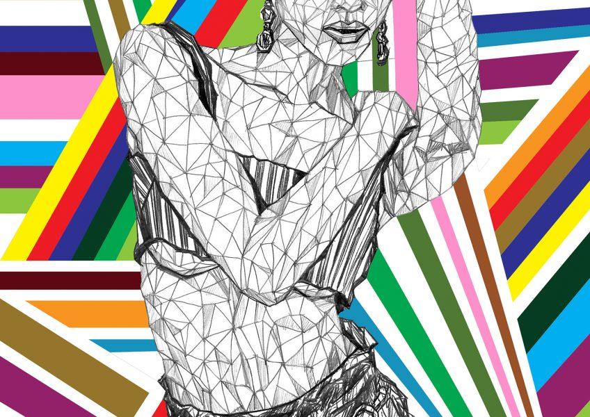 Asare Adjei_Fashionista_ShapeYourWorld_W_007_InkandDigitalArtonPaper_2015_Illustration